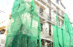 External Building Painting with Metal Scaffold Geylang