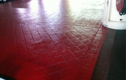 Epoxy Painting on floor tiles Ubi