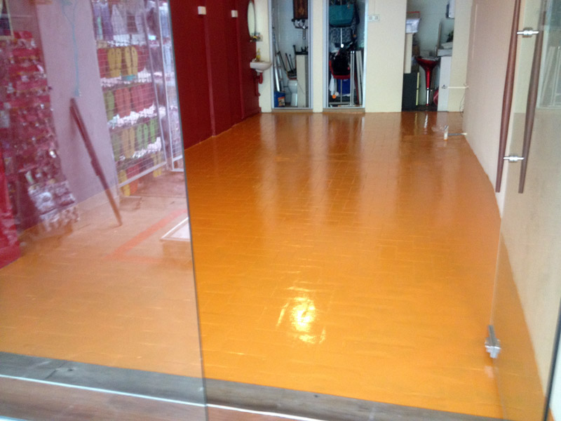 Painting Tile Floors With Epoxy Home Design Ideas