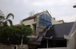 External Painting with Timber Scaffold Toh Dr