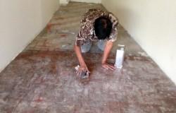 Epoxy Painting on floor tiles AMK