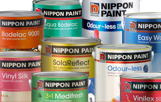 We Only use genuine nippon paint products